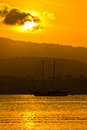 Free Sailboat In Sunset Royalty Free Stock Image - 24485476