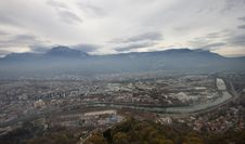 Free Top View Of Grenoble Stock Photo - 24480310