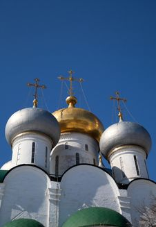 Free Moscow Domes. Smolensk Cathedral. Royalty Free Stock Images - 24480699