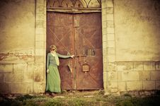 Free Woman Near Old Building Stock Photo - 24481210