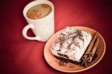 Free Tiramisu And Coffee Royalty Free Stock Image - 24481236