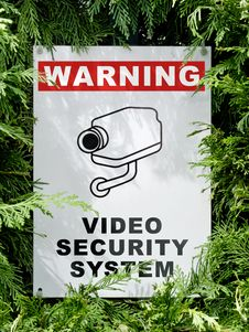 Free Cctv Signboard Stock Image - 24481271