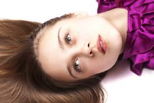 Free Sexual Woman Lying On Floor, Close Up, Looking Up Stock Photos - 24481333