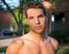 Free Shirtless Man Outside Stock Photo - 24481740
