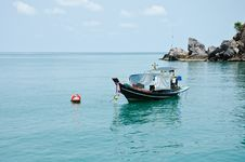Long Tail Boat In The Gulf Of Thailand. Royalty Free Stock Photography