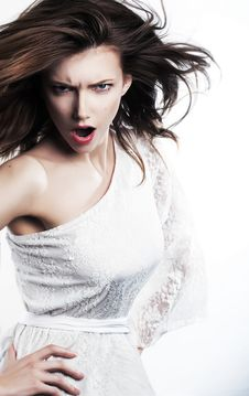 Free Emotions - Emotional Strict Female Girl Yelling Stock Photos - 24486473