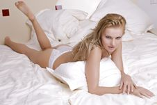 Free Young Sexy Blond In Sexy Lingerie Stock Photography - 24486802