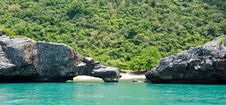 Free Cliffs Of The Island In The Sea. Royalty Free Stock Image - 24487476