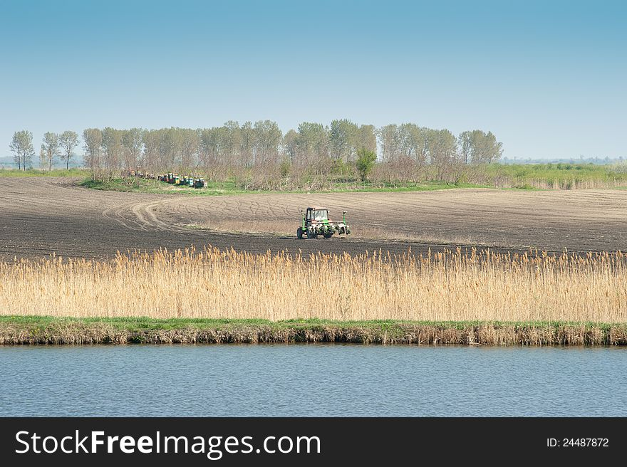 Spring works in agriculture