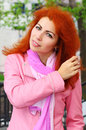 Free Portrait Of A Red Haired Girl Stock Photography - 24497722