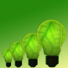 Free Green Light Bulb Royalty Free Stock Photo - 24490585