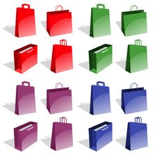 Free Shopping Bags Royalty Free Stock Photography - 24493177