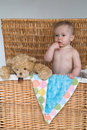 Free Baby And Teddy Stock Photos - 2450063