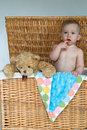 Free Baby And Teddy Royalty Free Stock Photo - 2450065