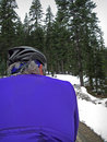 Free Road Cyclist In Snow Royalty Free Stock Photos - 2456508