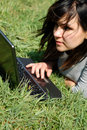 Free Woman Working On Laptop 7 Royalty Free Stock Photography - 2459517