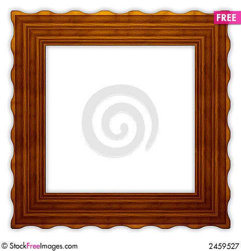 Free Square Wavy Wooden Frame 2 Royalty Free Stock Photography - 2459527