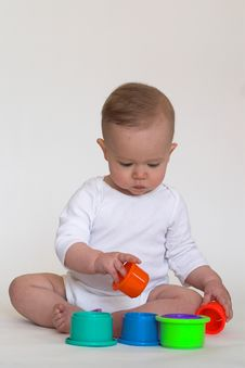 Free Playing With Cups Royalty Free Stock Photo - 2450085