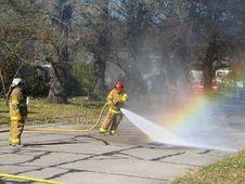 Free Firemen Rainbow Stock Photography - 2450142