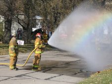 Free Firehose Rainbow Royalty Free Stock Images - 2450179