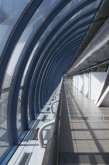 Free Corridor In A Glass Brigde Royalty Free Stock Photos - 2450458