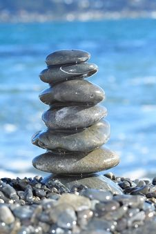 Stack Of Stones Balanced Stock Image