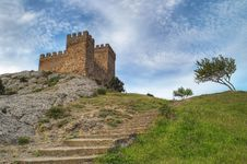 Free Stone Staircase To Tower Royalty Free Stock Images - 2453169
