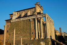 Temple Of Antoninus And Fausti Royalty Free Stock Photo