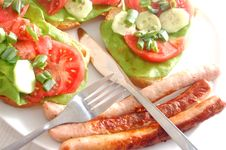 Free Plate With Sandwiches Stock Photography - 2454422