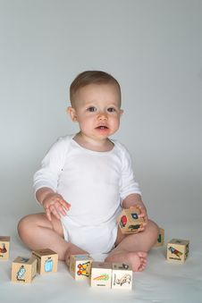 Baby Blocks Royalty Free Stock Photography