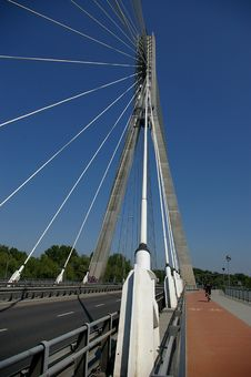 Path On Suspension Bridge Stock Photography