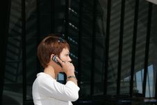Free Woman Telephoning Stock Image - 2457511