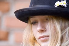 Free Portrait Of The Girl In A Hat Royalty Free Stock Images - 2458029