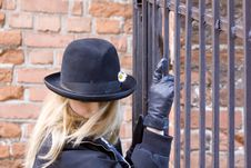 Free Portrait Of The Girl In A Hat Royalty Free Stock Photo - 2458035