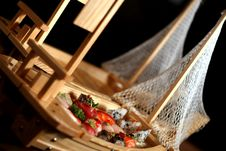 Free Sushi Boats Royalty Free Stock Photography - 2459347