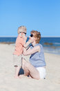 Free Mother And Son Together At The Beach Stock Photo - 24500050