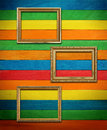 Free Gold Frame On Colorful Wood Royalty Free Stock Image - 24504836