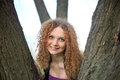 Free Portrait Of A Pretty Girl In The Trees Stock Photos - 24508823
