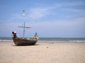 Free Old Fisherman Boat At The Beach Stock Images - 24509254