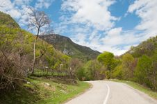 Free Small Road Going To The Mountains In Natural Area Stock Photography - 24501072