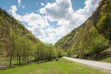 Free Beautiful Nature With Small Road And Clear River Royalty Free Stock Image - 24501216