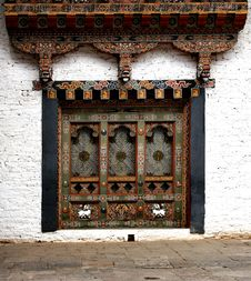 Free Bhutanese Window Royalty Free Stock Images - 24502779