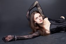 Free Beautiful Girl With Fishnet Tights On Hand Stock Photography - 24503142
