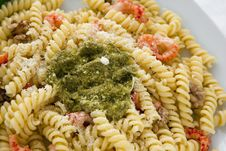 Free Pasta With Pesto Stock Photography - 24503622