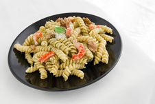 Free Pasta With Pesto Royalty Free Stock Image - 24504406