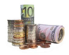 Free Coins And Banknotes Royalty Free Stock Photos - 24507248