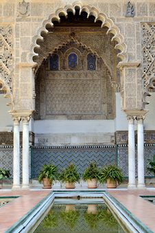 Alcazar Palace, Seville Royalty Free Stock Photos