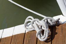 Free Rope Docking Stock Image - 24508191