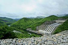 Srinakarin Dam In Kanchanaburi, Thailand Royalty Free Stock Photo