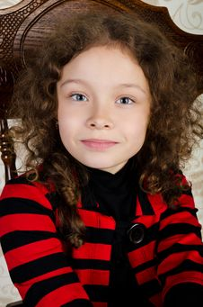 Free Portrait Of Cute Smiling Little Girl Royalty Free Stock Photography - 24509257